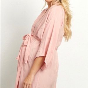 Pink lunch maternity/delivery/nursing robe